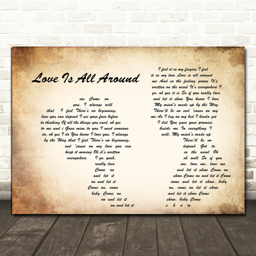 Baby I Love Your Way Song Lyric Quote Print