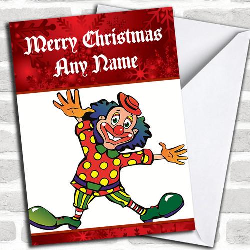 Clown Personalised Christmas Card