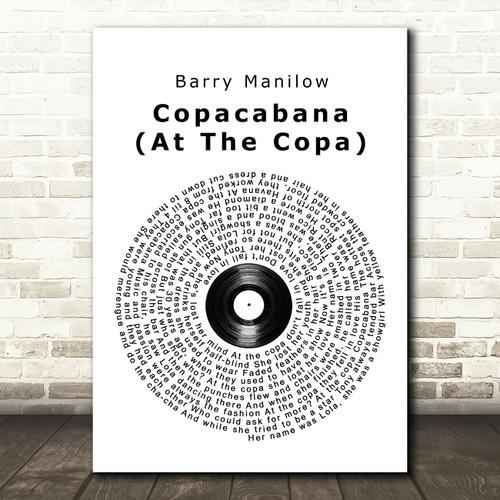 At The Copa Copacabana Song Lyric Quote Print