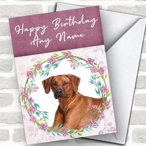 RHODESIAN RIDGEBACK PACK OF 4 VINTAGE STYLE DOG PRINT GREETINGS NOTE CARDS