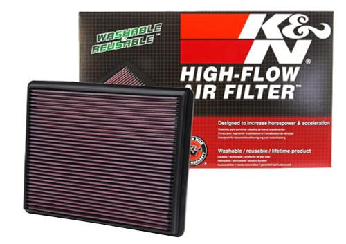 K/&N 33-2247 High Performance Replacement Air Filter for 2002-2017 Dodge Ram V6//V8