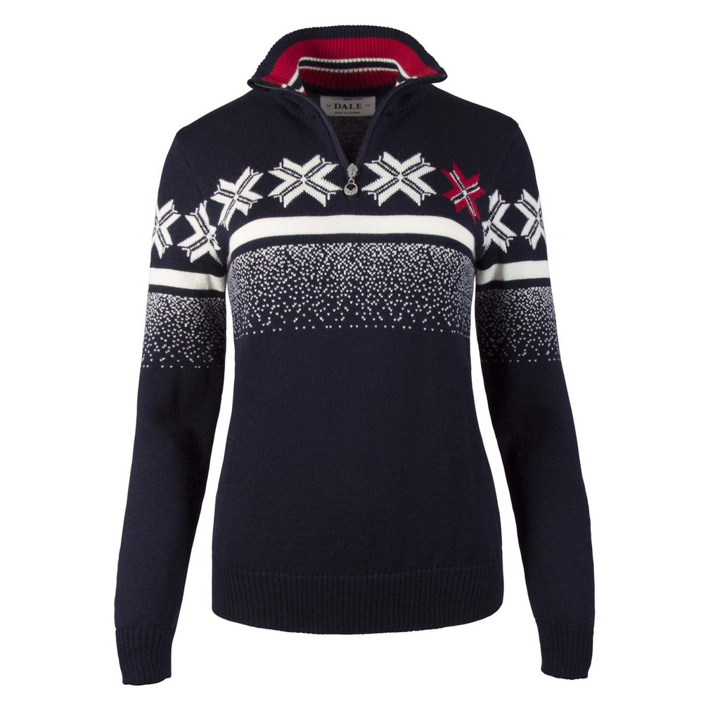 Dale of Norway Olympic Passion Pullover, Ladies, in Navy/Raspberry/Off White, 93351-C