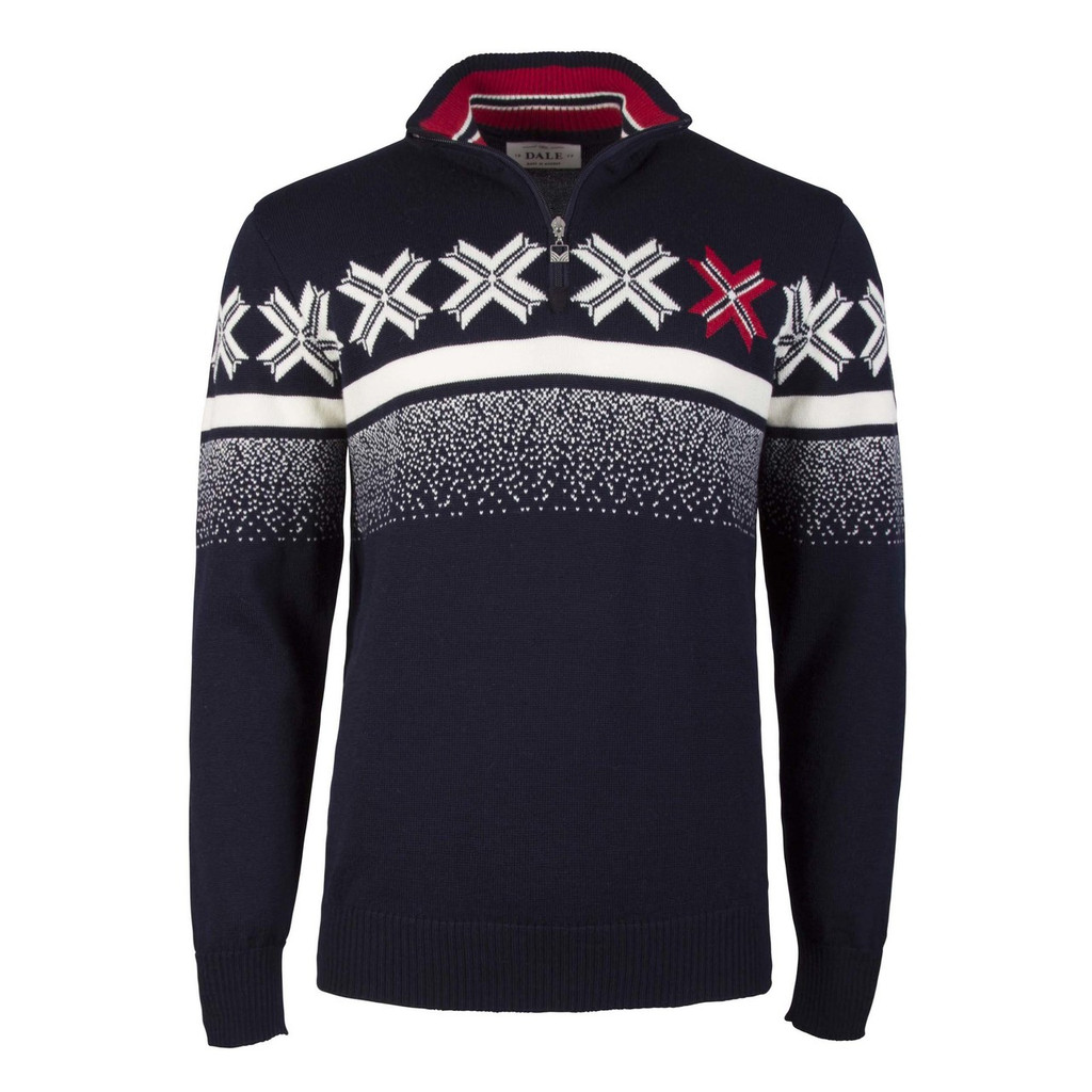 Dale of Norway Olympic Passion Pullover, Mens, in Navy/Raspberry/Off White, 93361-C
