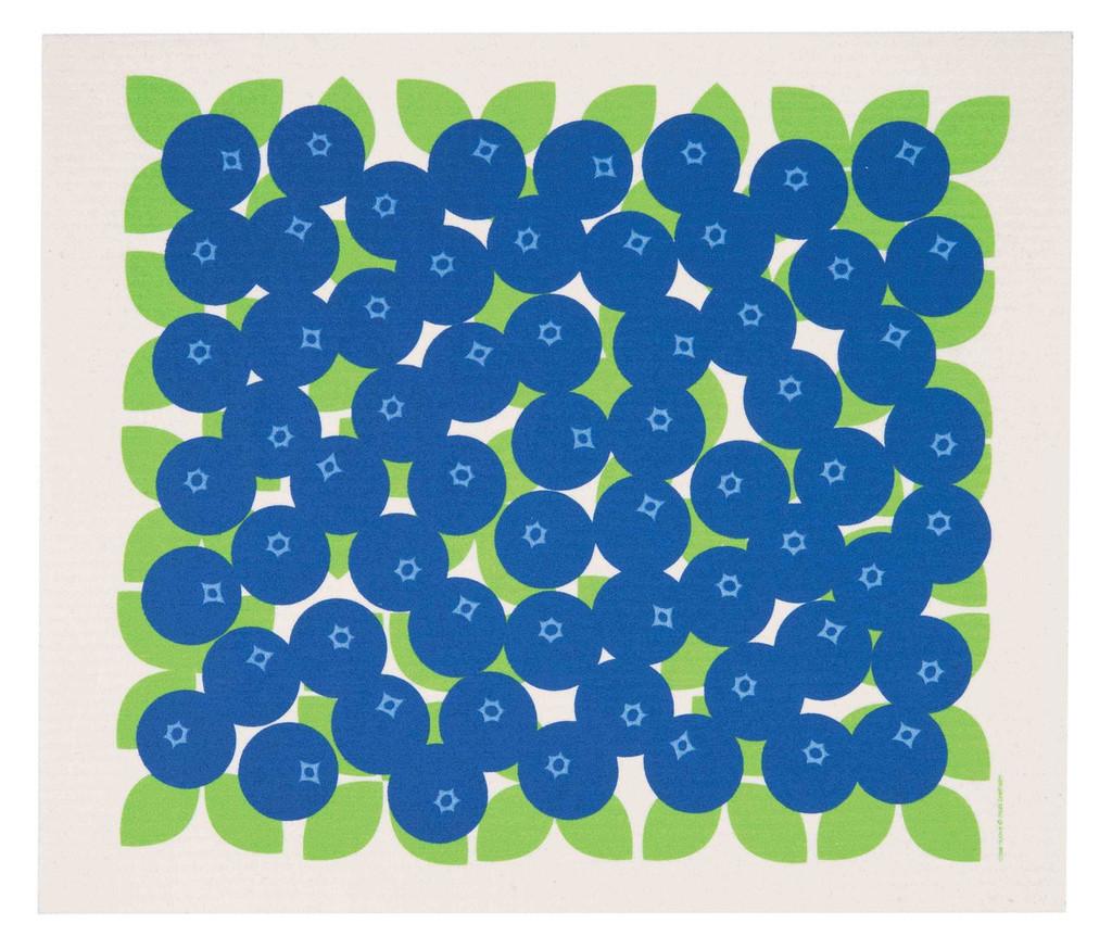 Swedish drying mat, Blueberries design