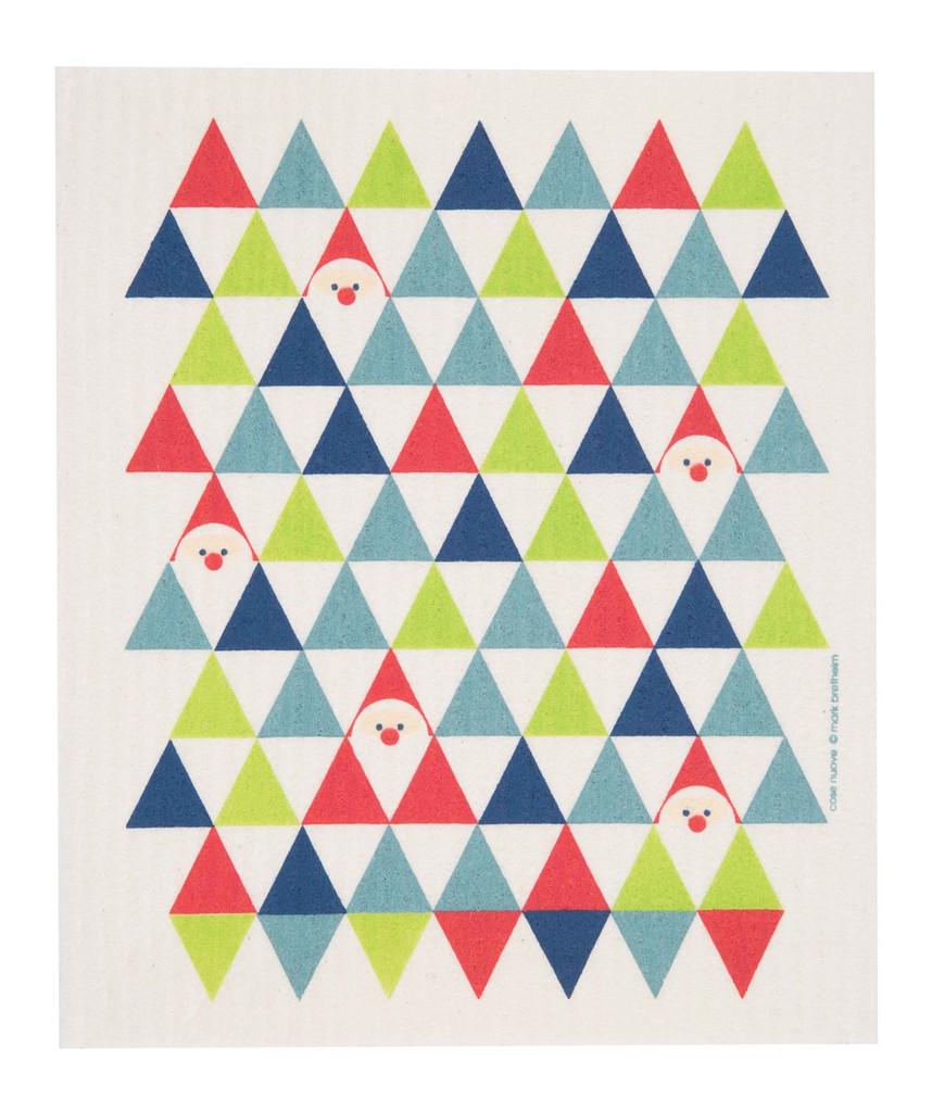 Swedish Christmas Dishcloth - Holiday Triangles