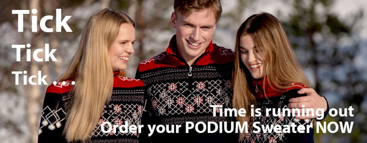 TIME IS RUNNING OUT . . . There are only 3 days remaining to order your PODIUM Sweater