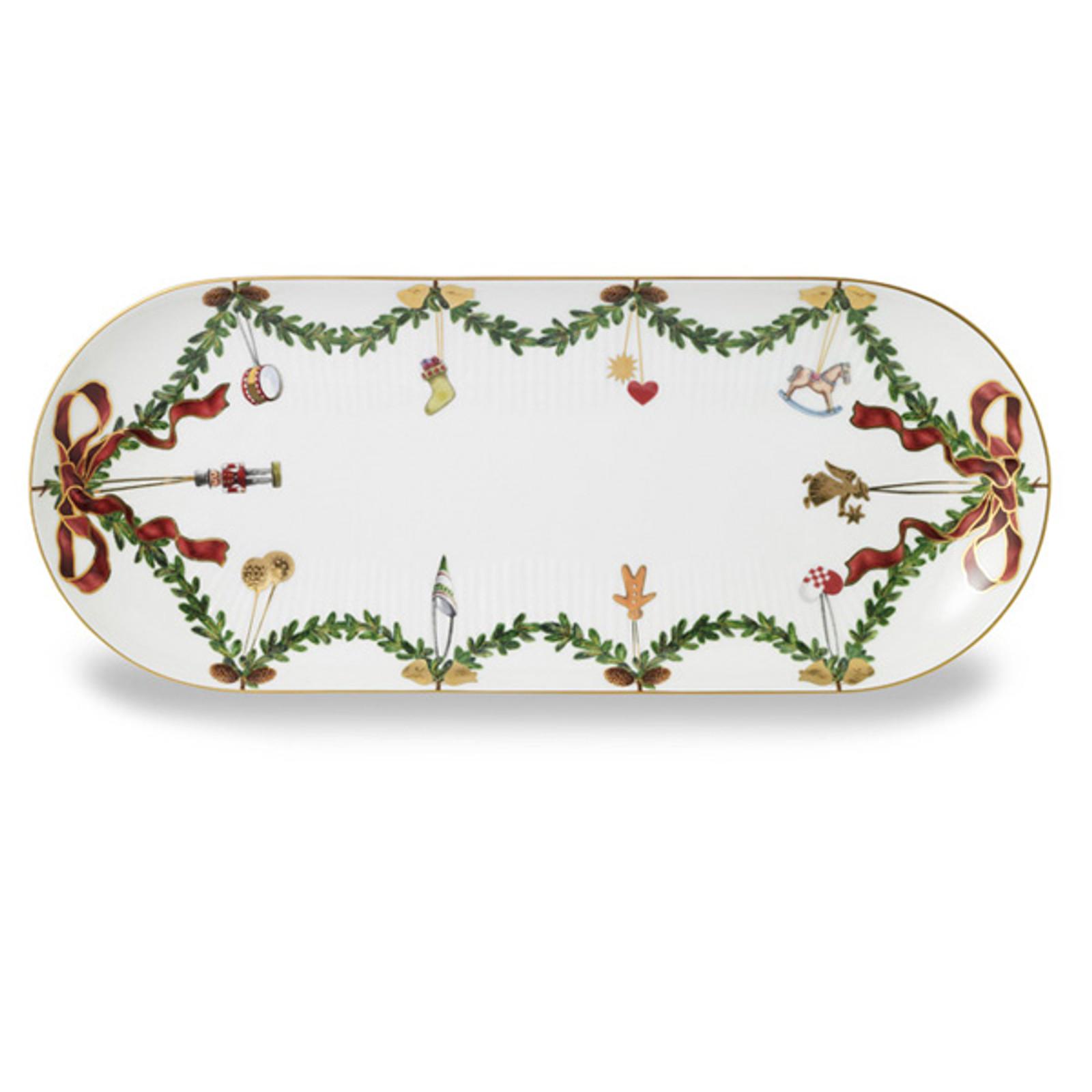 """Royal Copenhagen Star Fluted Christmas 16.5"""" Oblong Platter"""