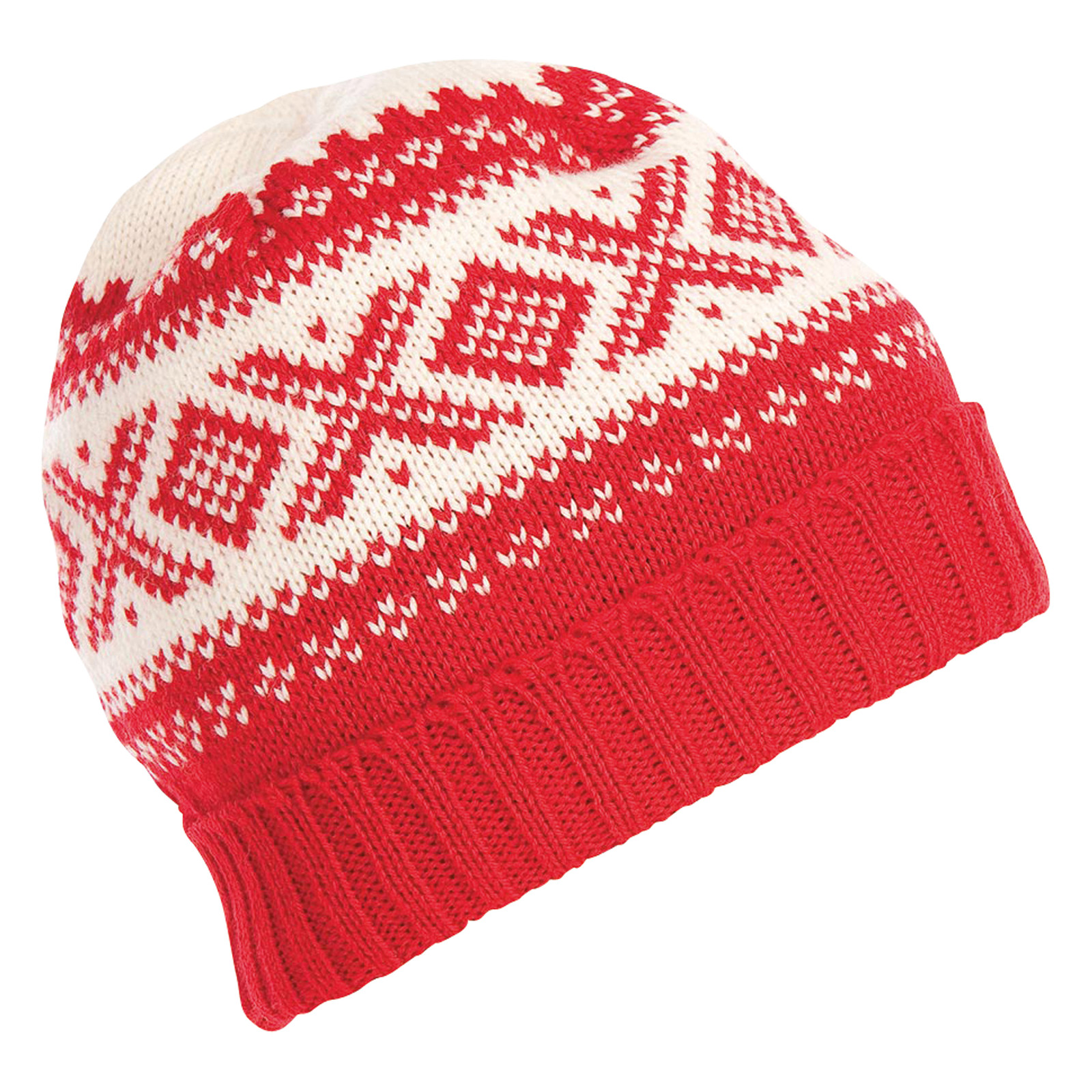 Dale of Norway Cortina 1956 Unisex Hat in Raspberry/Off White, 42261-B