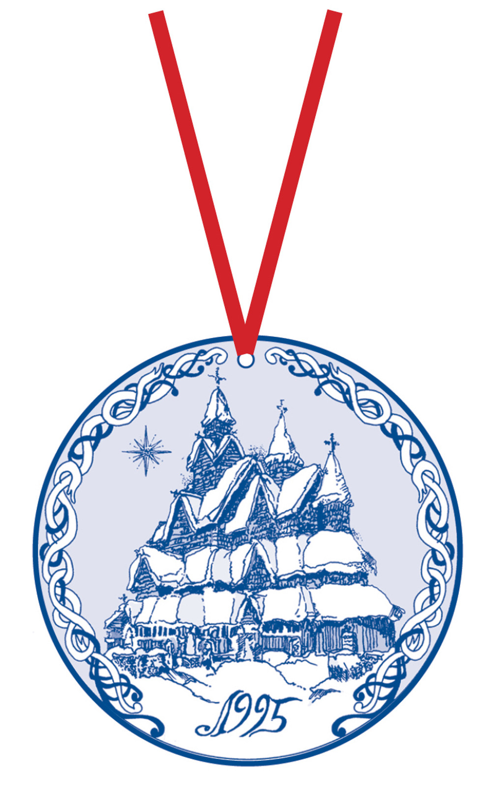 1995 Stav Church Ornament - Heddal. Made by Norse Traditions and available at The Nordic Shop.
