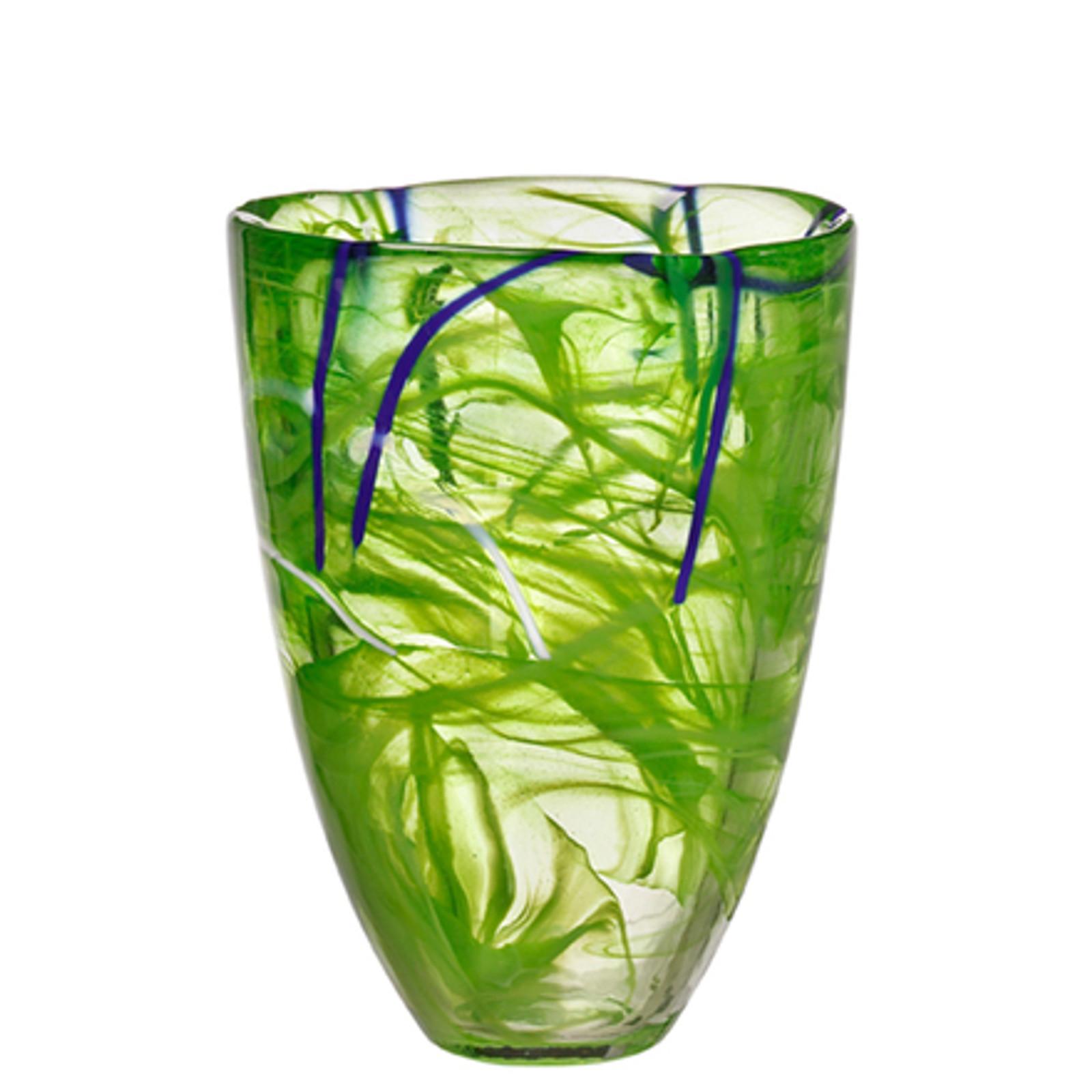 Kosta Boda Contrast Lime Vase