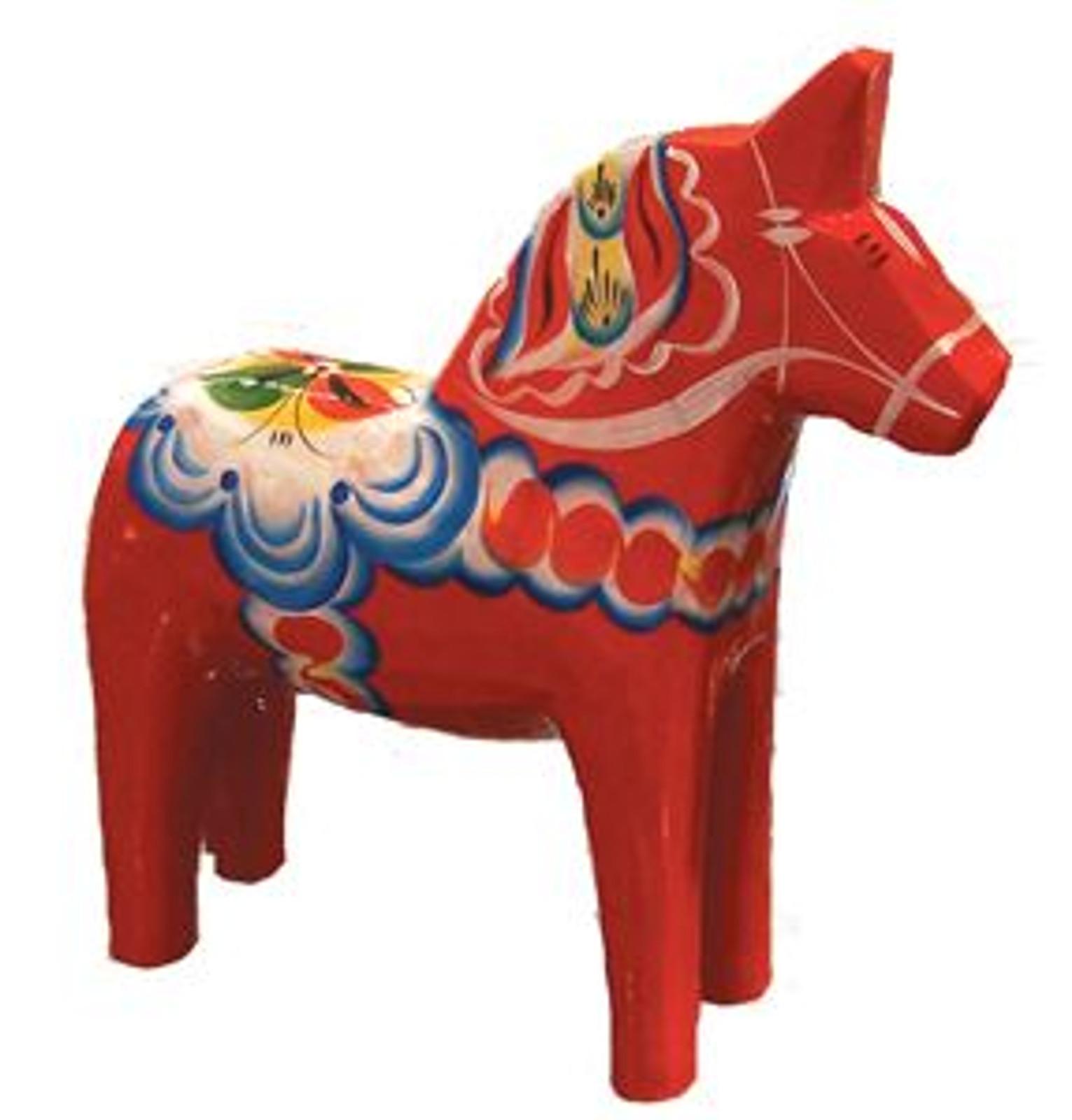 Authentic Swedish Dala Horse, 2 inches.