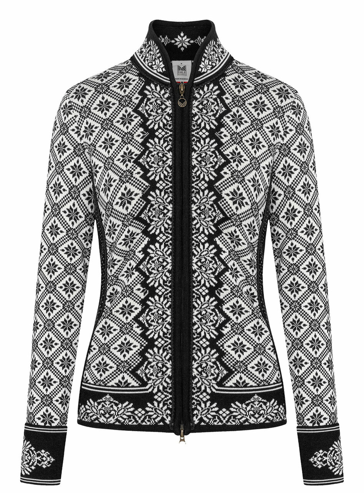 Dale of Norway Christiania Cardigan, Ladies - Black/Off White, 81951-F