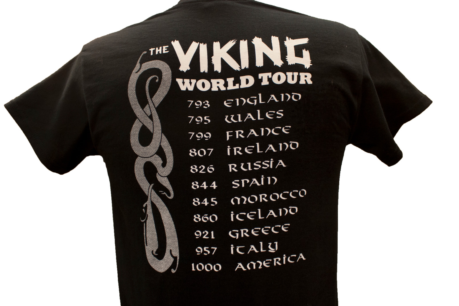 Black Viking Tour T-Shirt, Back