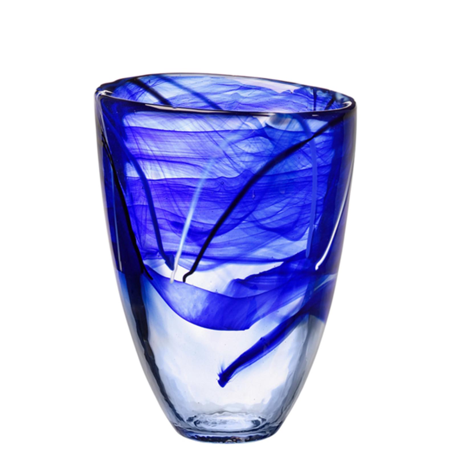 Kosta Boda Contrast Blue Vase
