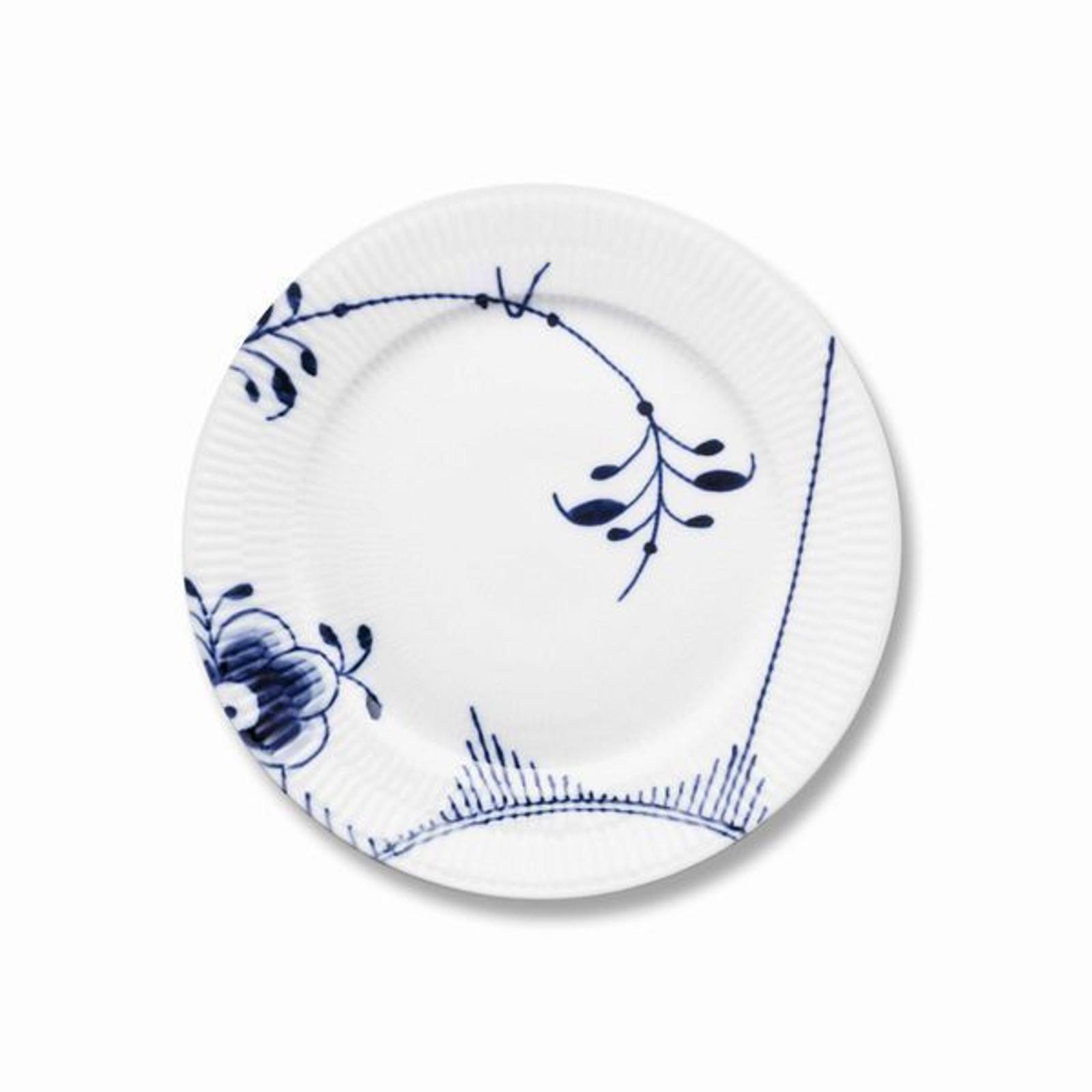 "Royal Copenhagen Blue Fluted Mega Salad Plate No. 2, 8.75"""