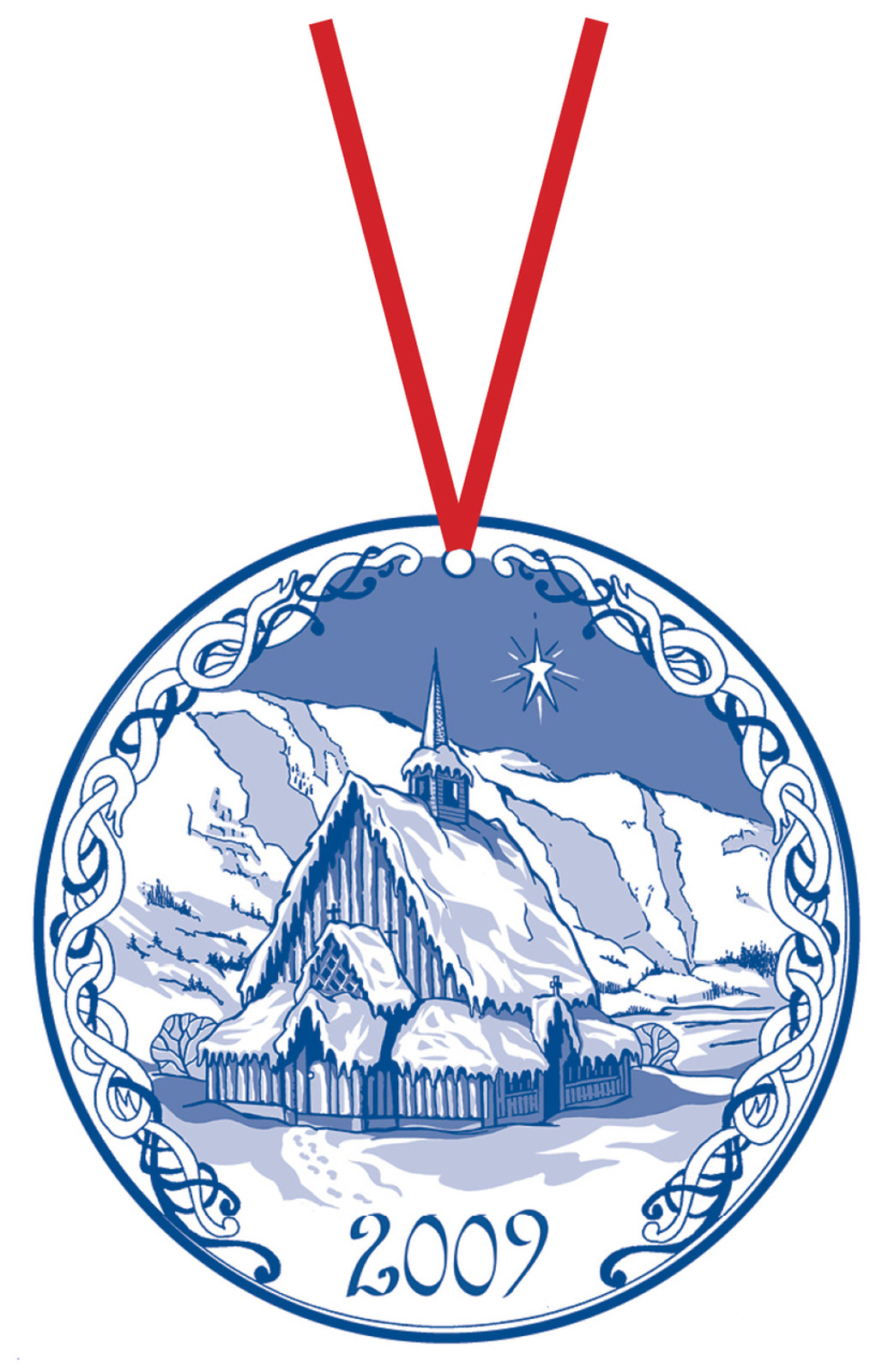 2009 Stav Church Ornament - Oye. Made by Norse Traditions and available at The Nordic Shop.