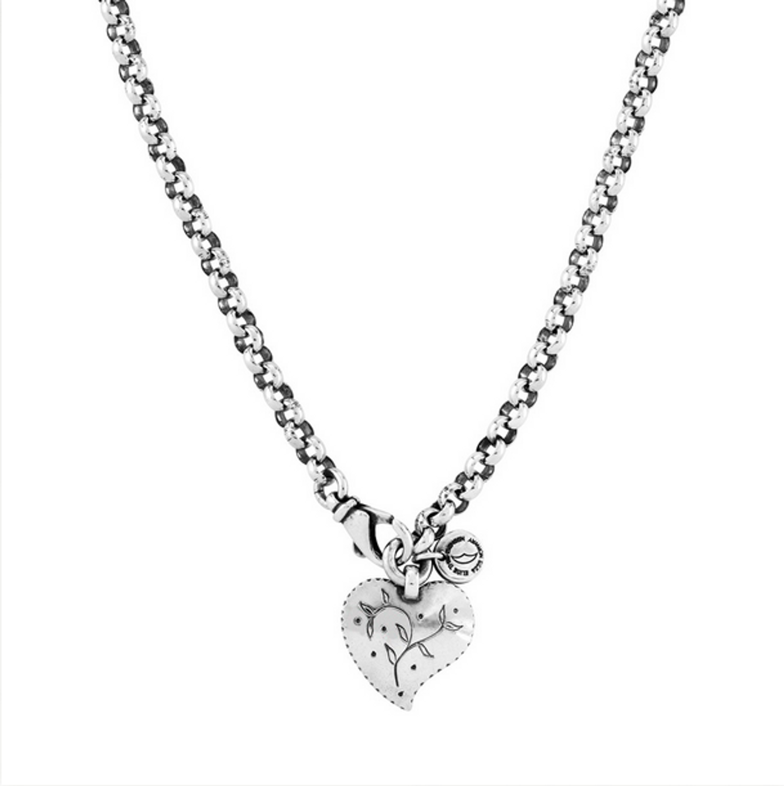 Huldre of Norway - Huldre Heart Silver Necklace, 5mm