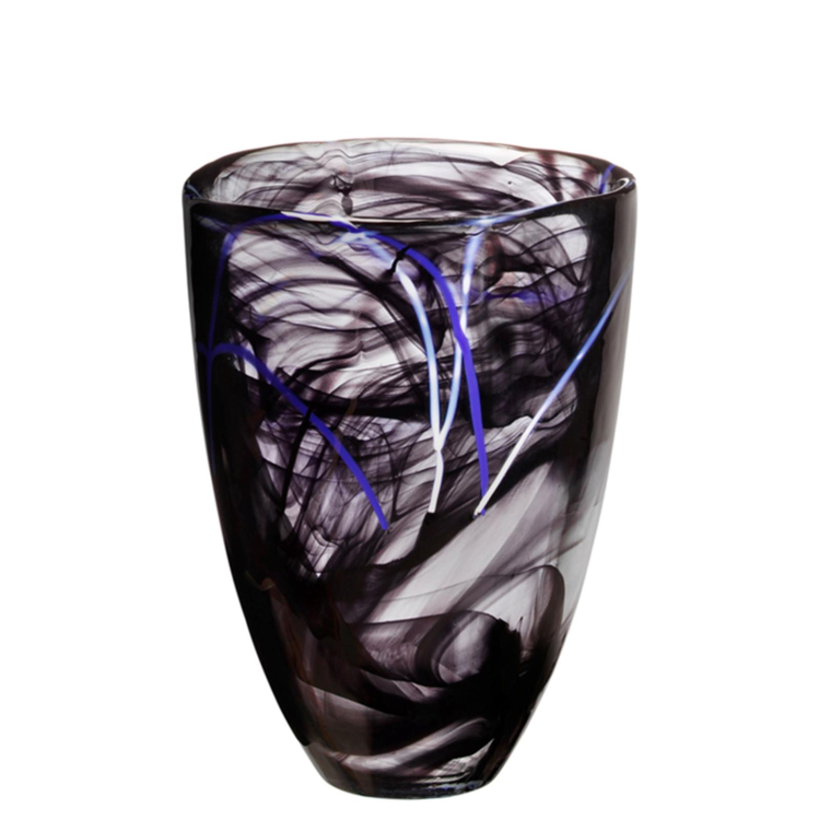 Kosta Boda Contrast Black Vase
