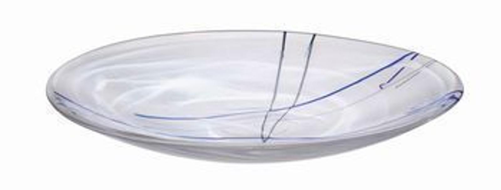 Kosta Boda Contrast White Platter