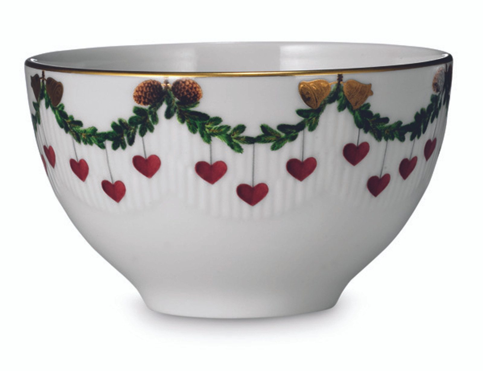 Royal Copenhagen Star Fluted Christmas 10 oz. Chocolate Bowl