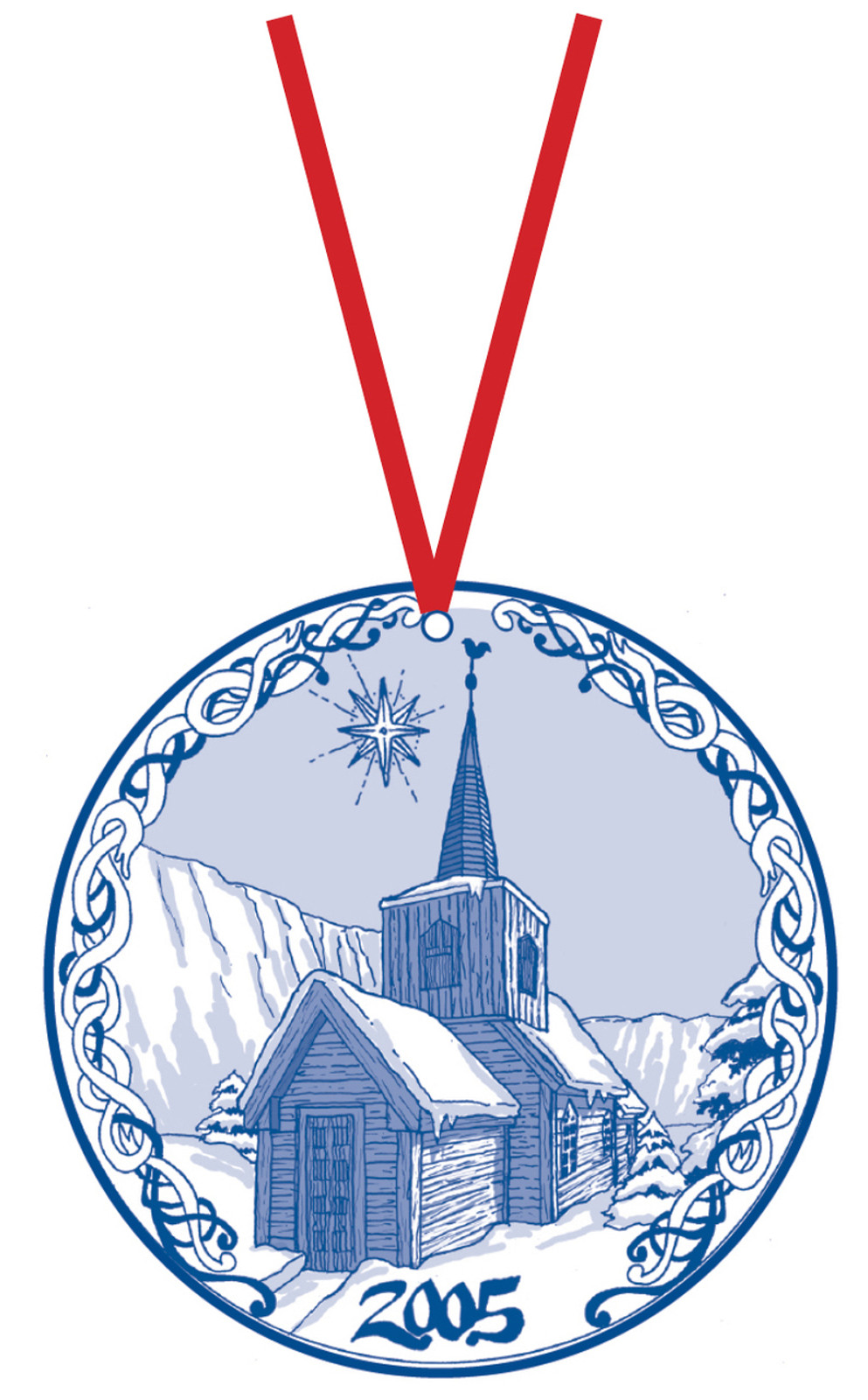 2005 Stav Church Ornament - Undredal. Made by Norse Traditions and available at The Nordic Shop.