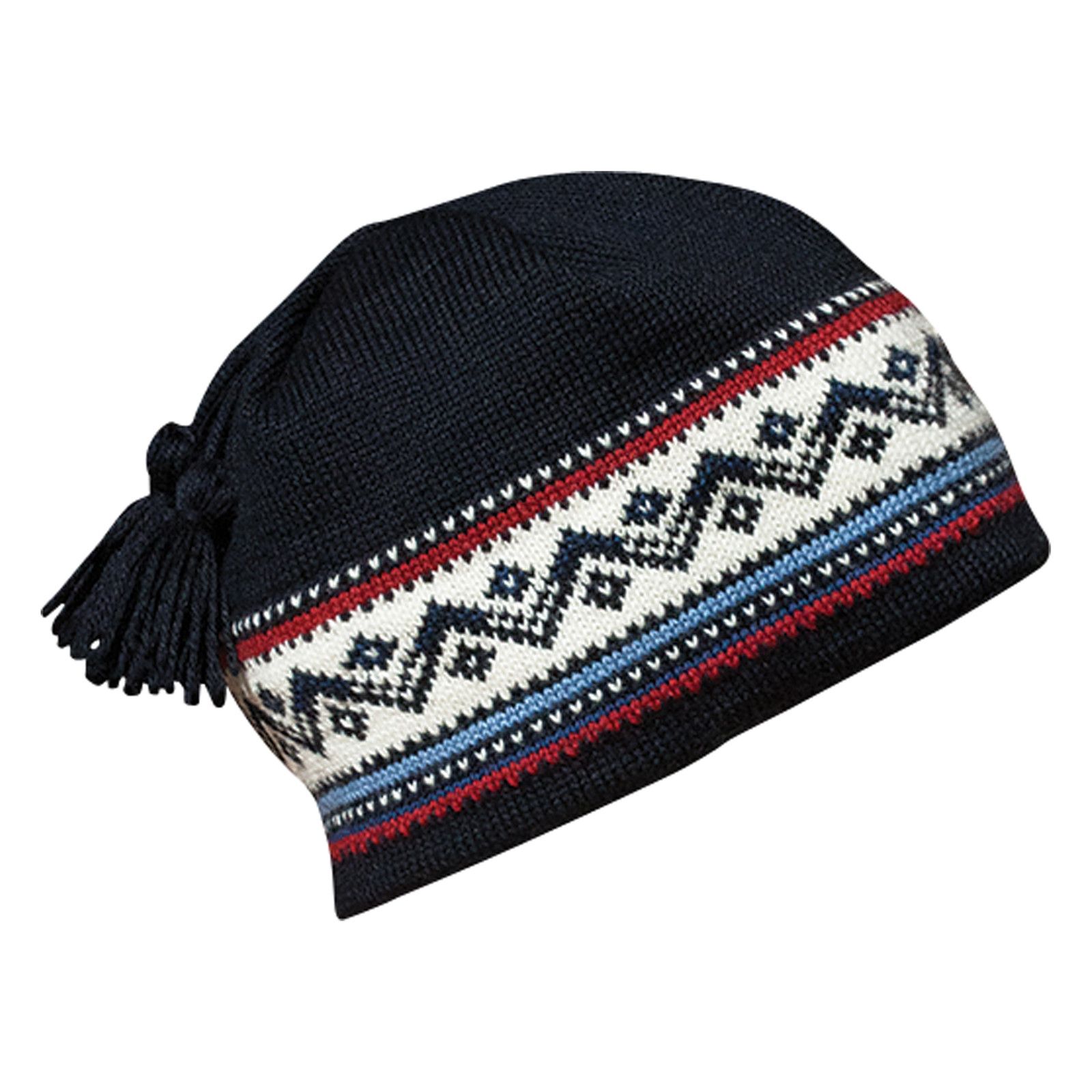 Dale of Norway Vail Unisex Hat in Navy/Red Rose/Off White/Indigo, 40331-C