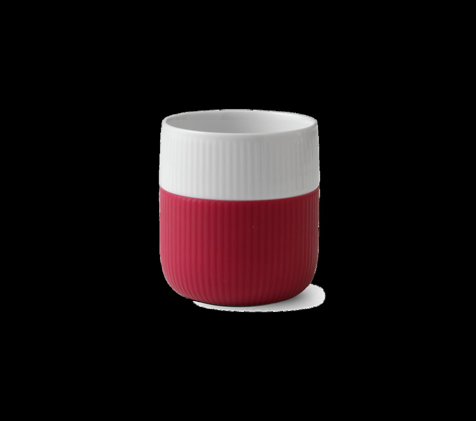 Royal Copenhagen Fluted Contrast Mug - Raspberry