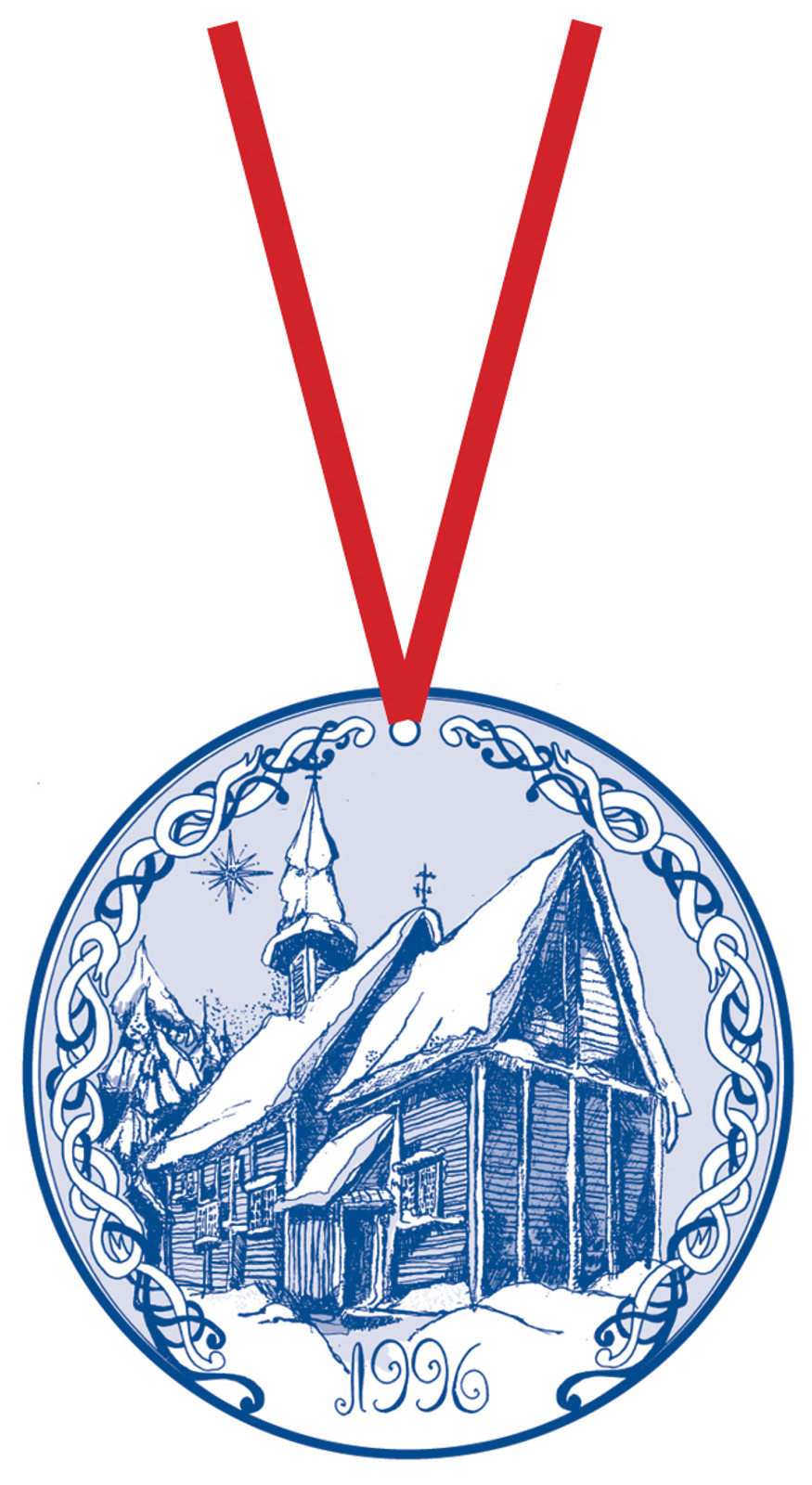 1996 Stav Church Ornament - Lomen. Made by Norse Traditions and available at The Nordic Shop.