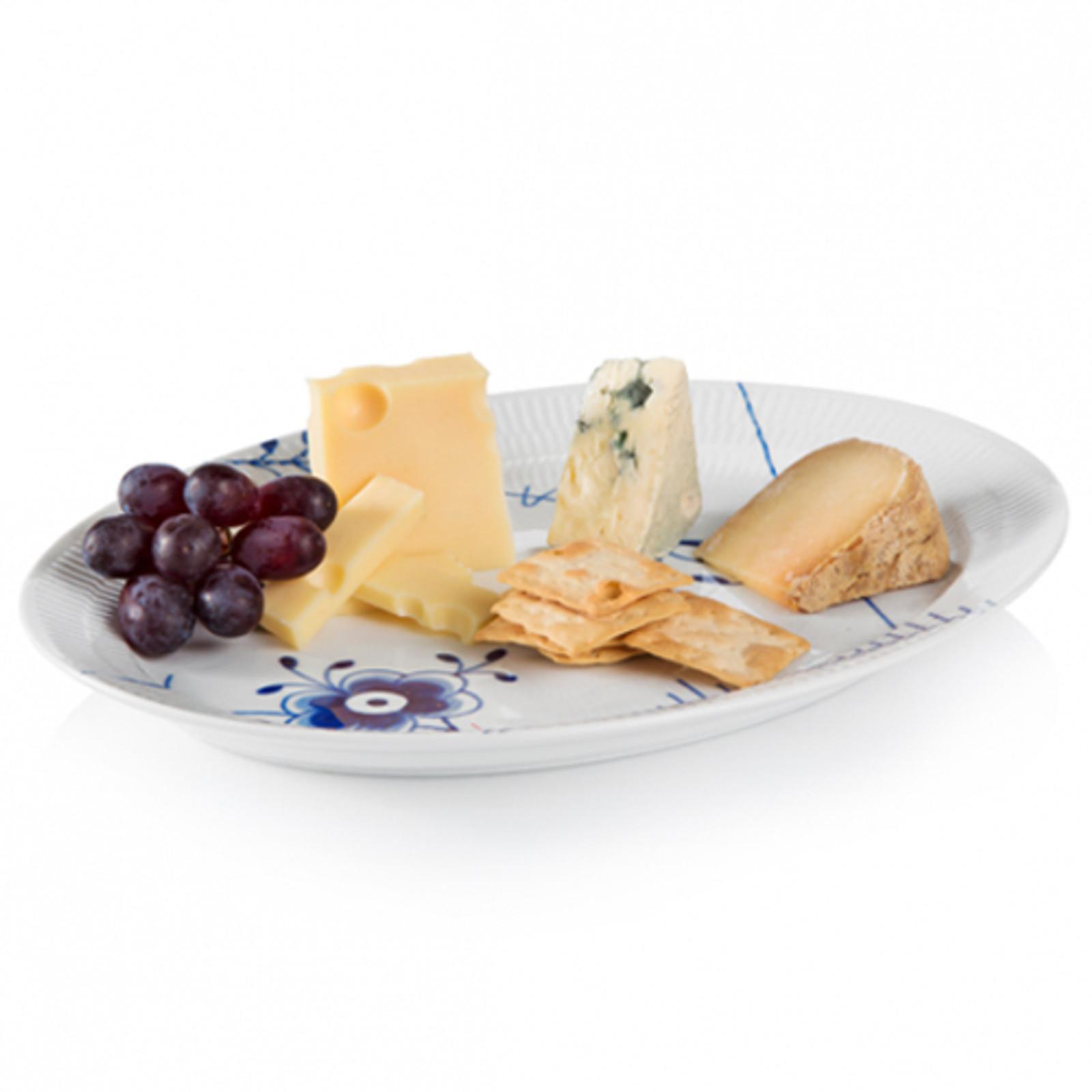 "Royal Copenhagen Blue Fluted Mega Oval Serving Platter, 13"""