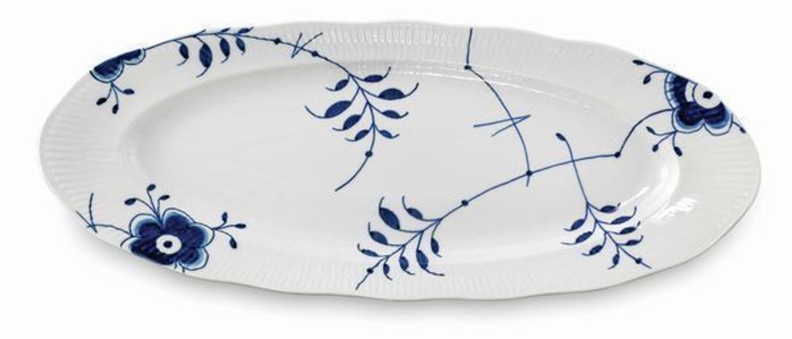 """Royal Copenhagen Blue Fluted Mega Oval Fish Platter, 23.5"""""""