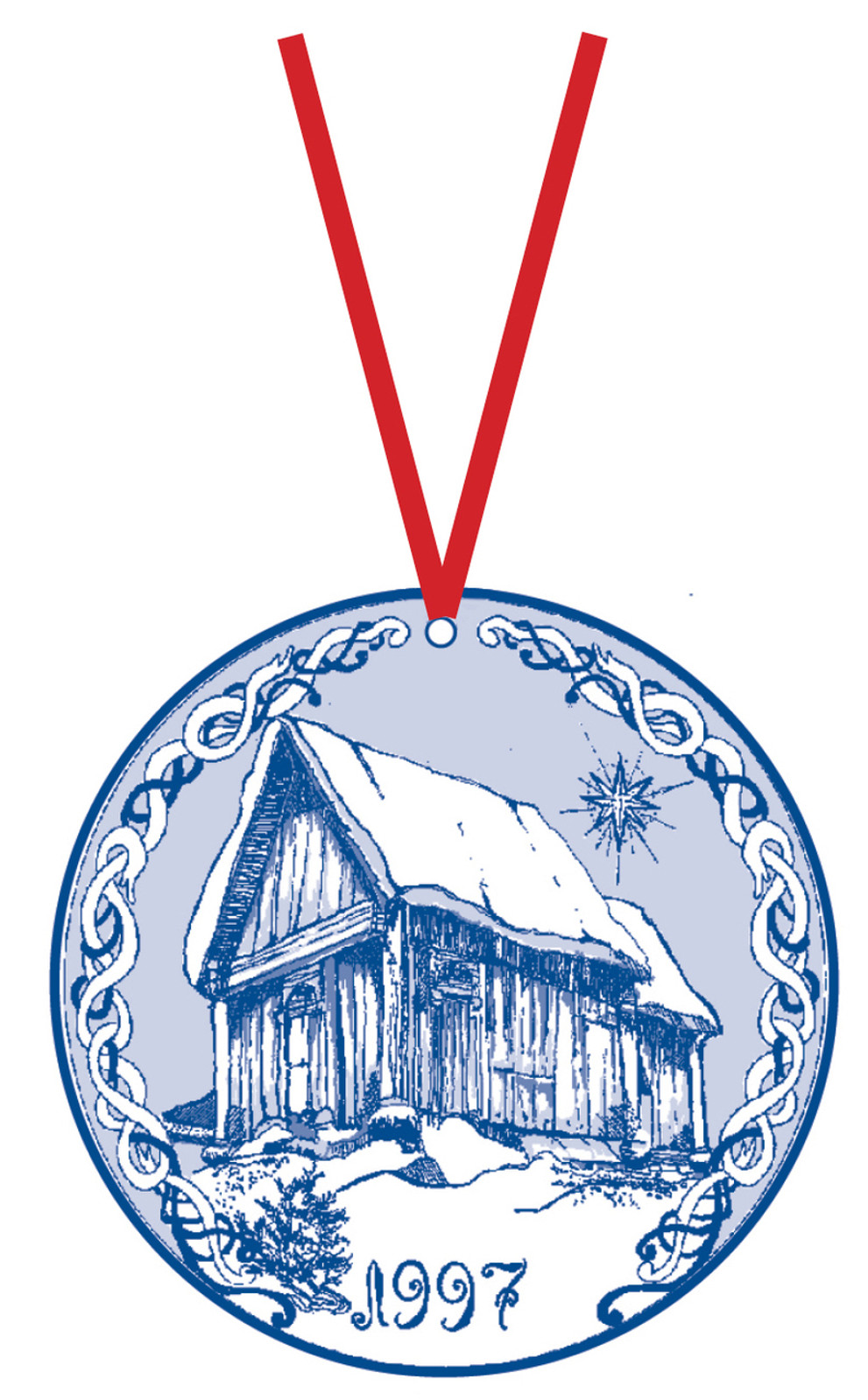 1997 Stav Church Ornament - Trondheim. Made by Norse Traditions and available at The Nordic Shop.