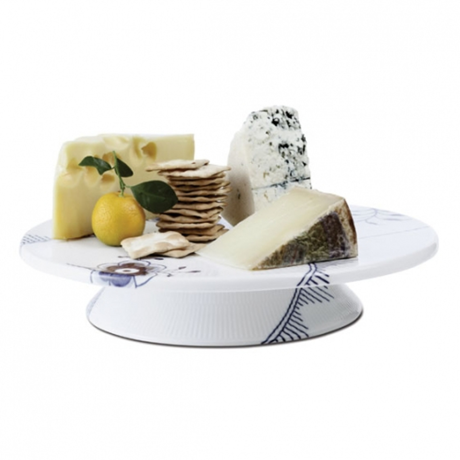 "Royal Copenhagen Blue Fluted Mega Cake Plate, 12.5"""