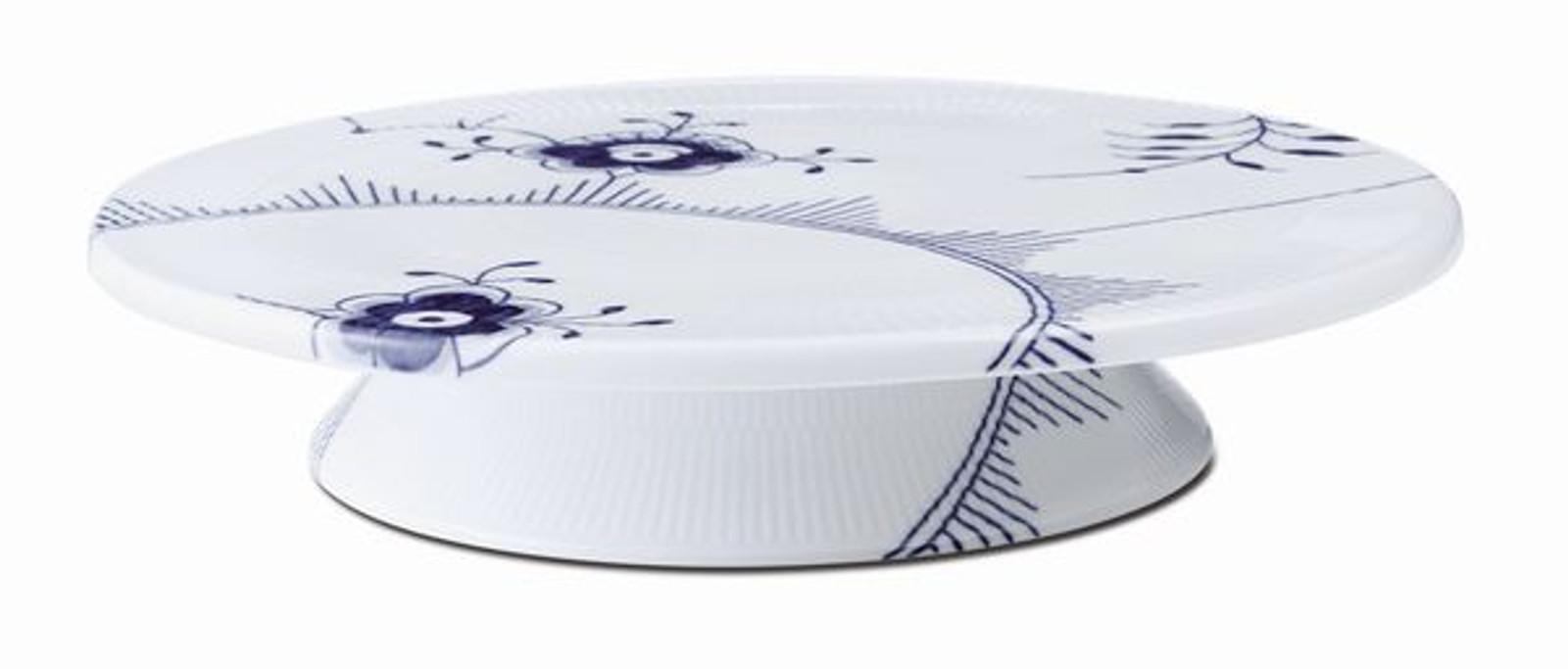 """Royal Copenhagen Blue Fluted Mega Cake Plate, 12.5"""", alternate view"""