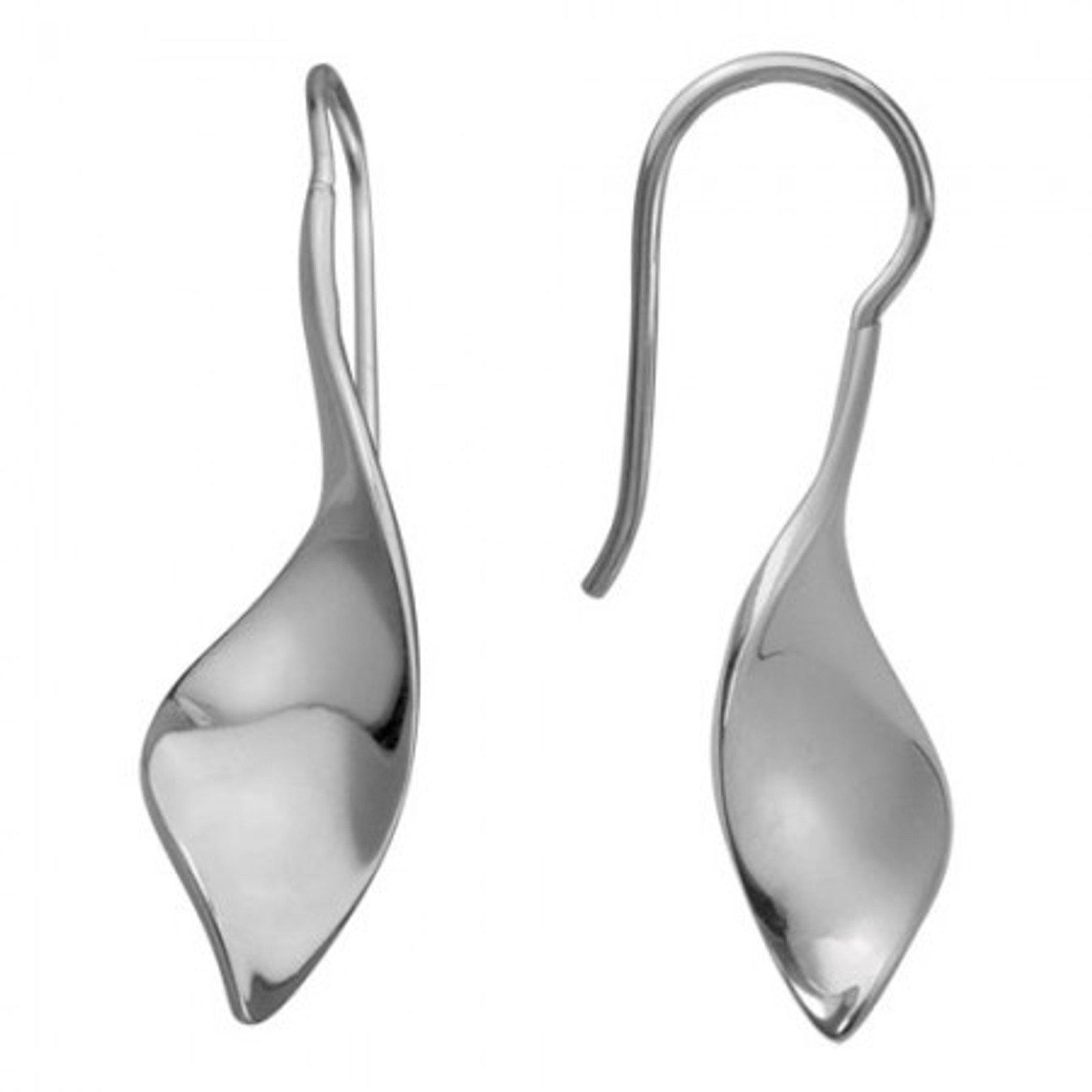 Shiny Twist Earrings, Danish Silversmiths