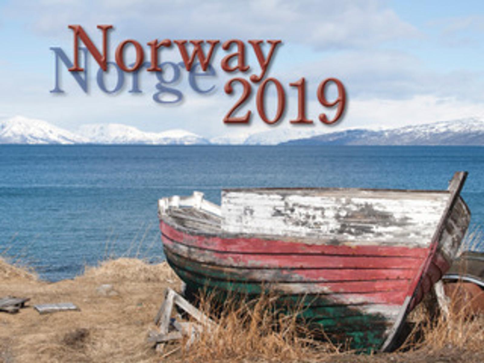 2019 Nordiskal Norway Calendar in Photographs - Front Cover