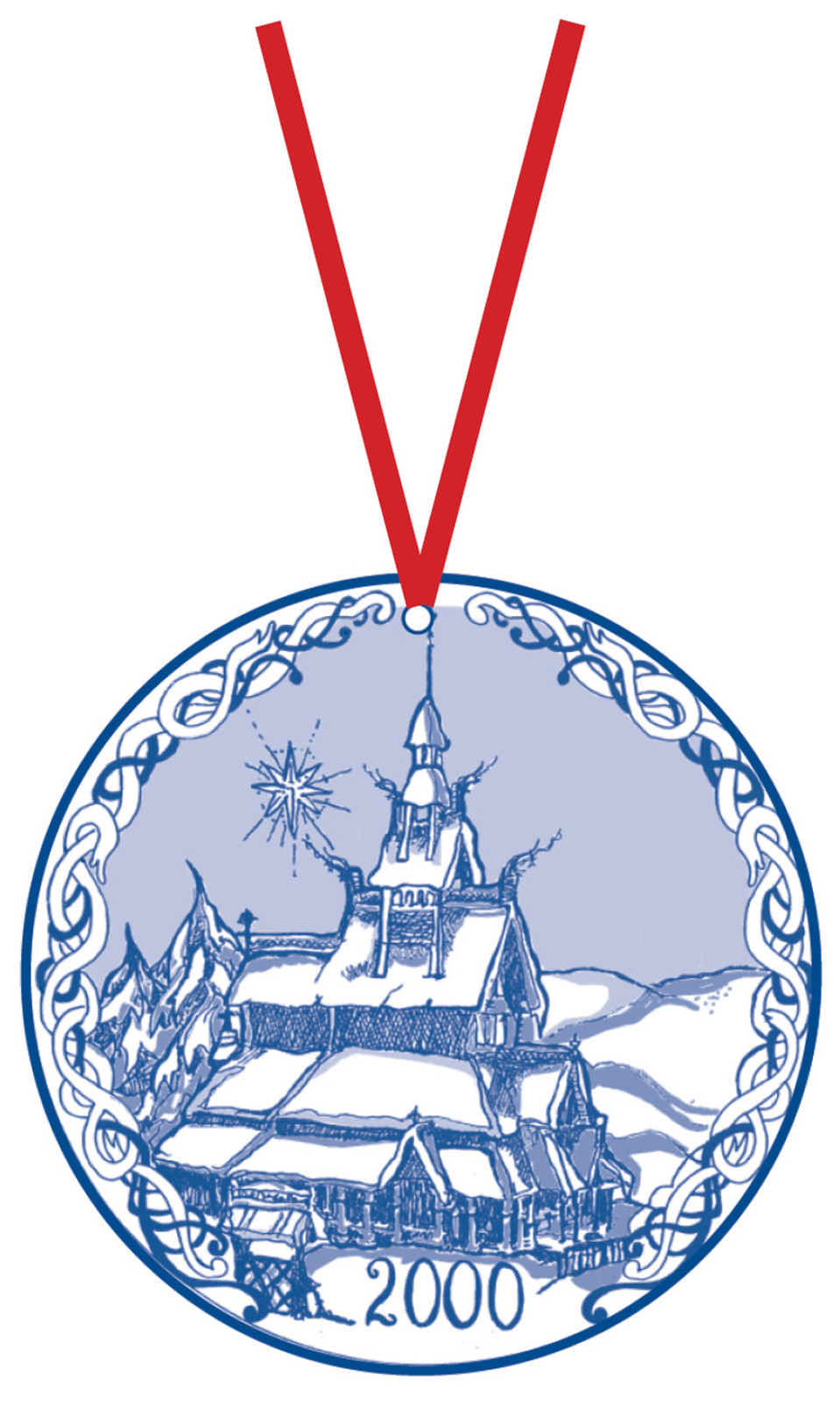 2000 Stav Church Ornament - Fortun. Made by Norse Traditions and available at The Nordic Shop.
