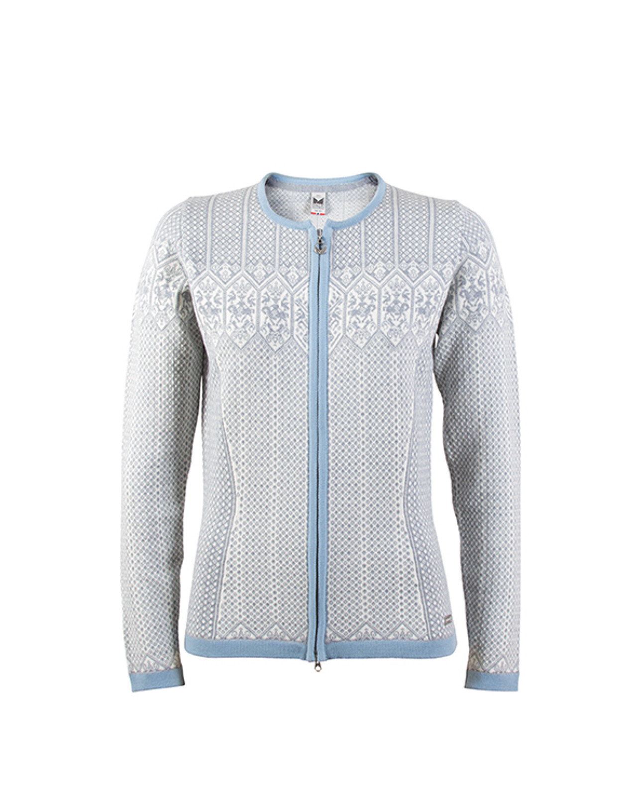 Dale of Norway, Sigrid cardigan, ladies in Grey Mel/Off White/Ice Blue, 82071-E, on sale at The Nordic Shop