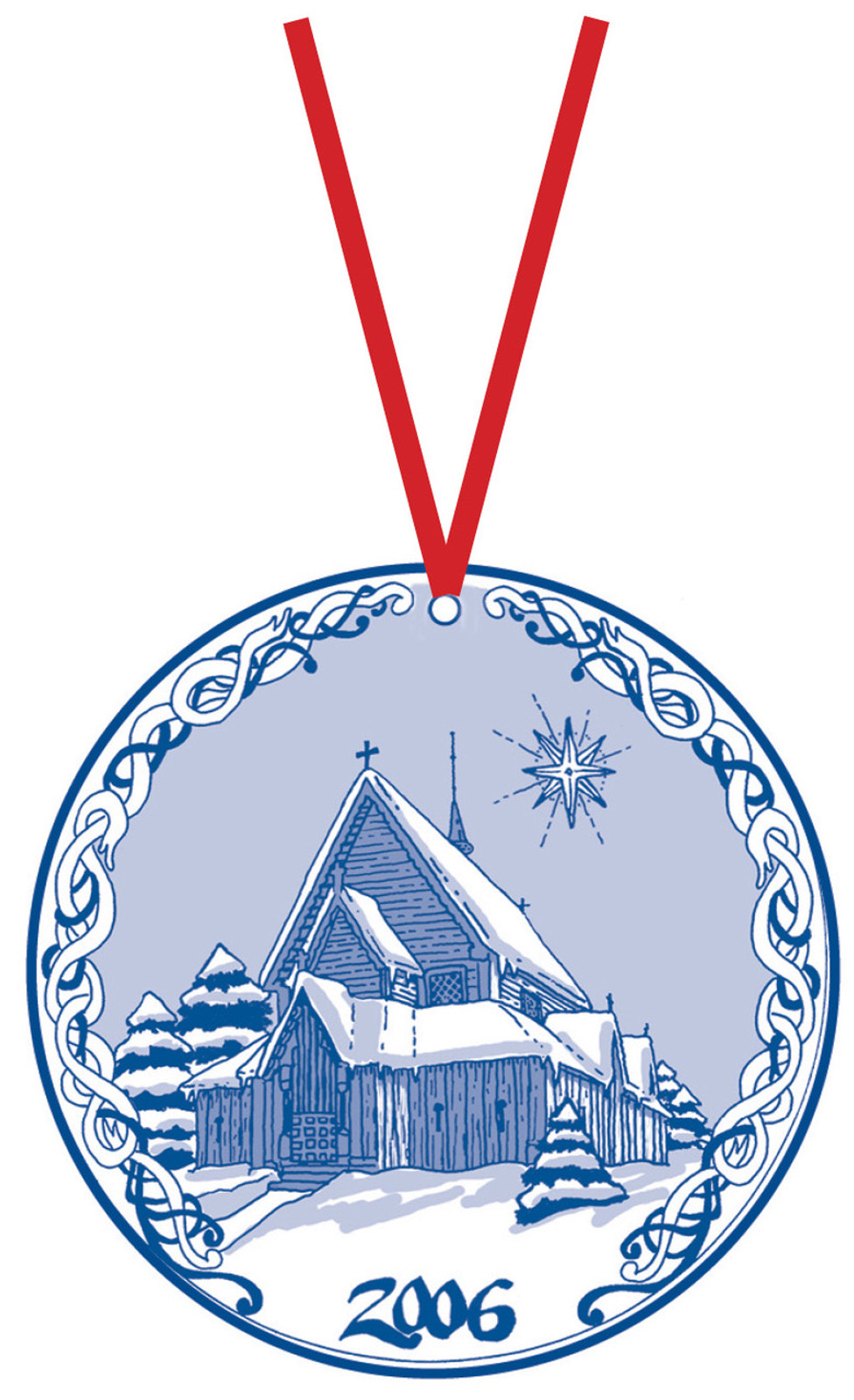 2006 Stav Church Ornament - Reinli. Made by Norse Traditions and available at The Nordic Shop.