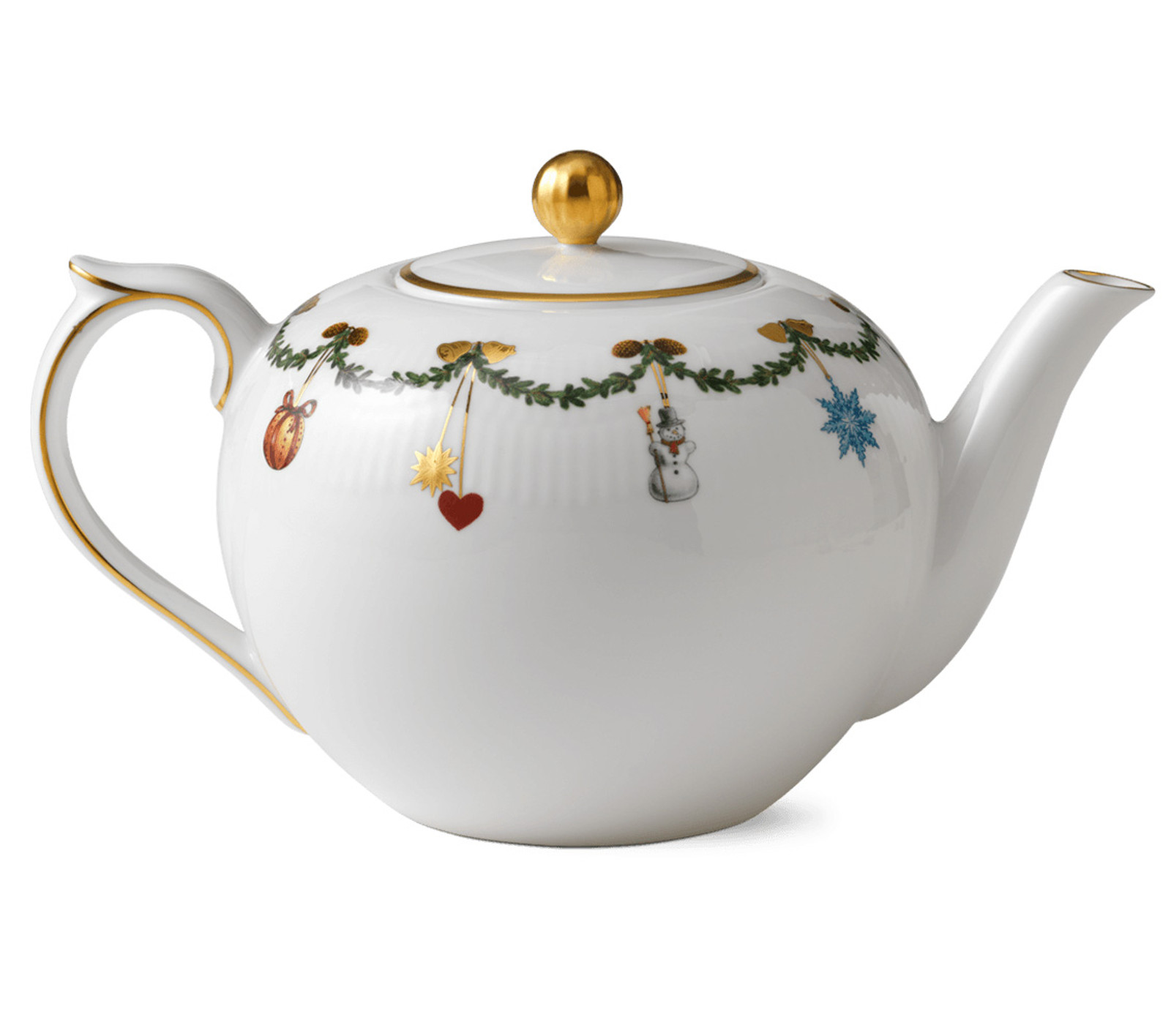 Royal Copenhagen Star Fluted Christmas Tea Pot, 1.5 Quart