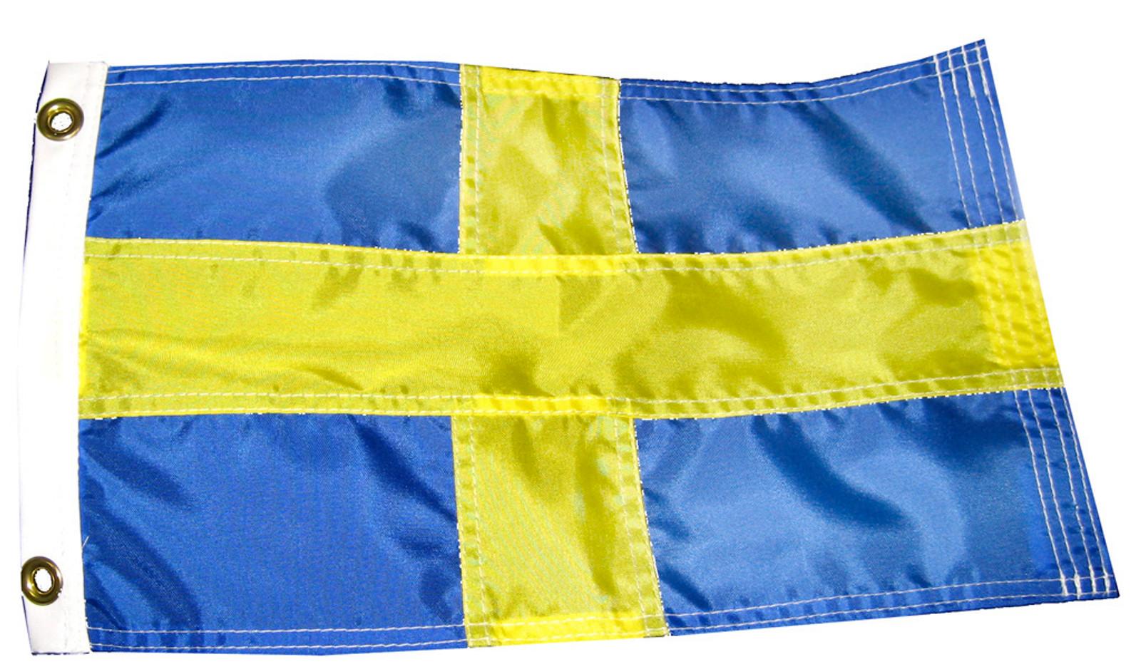 Swedish Boat Flag - 11X15