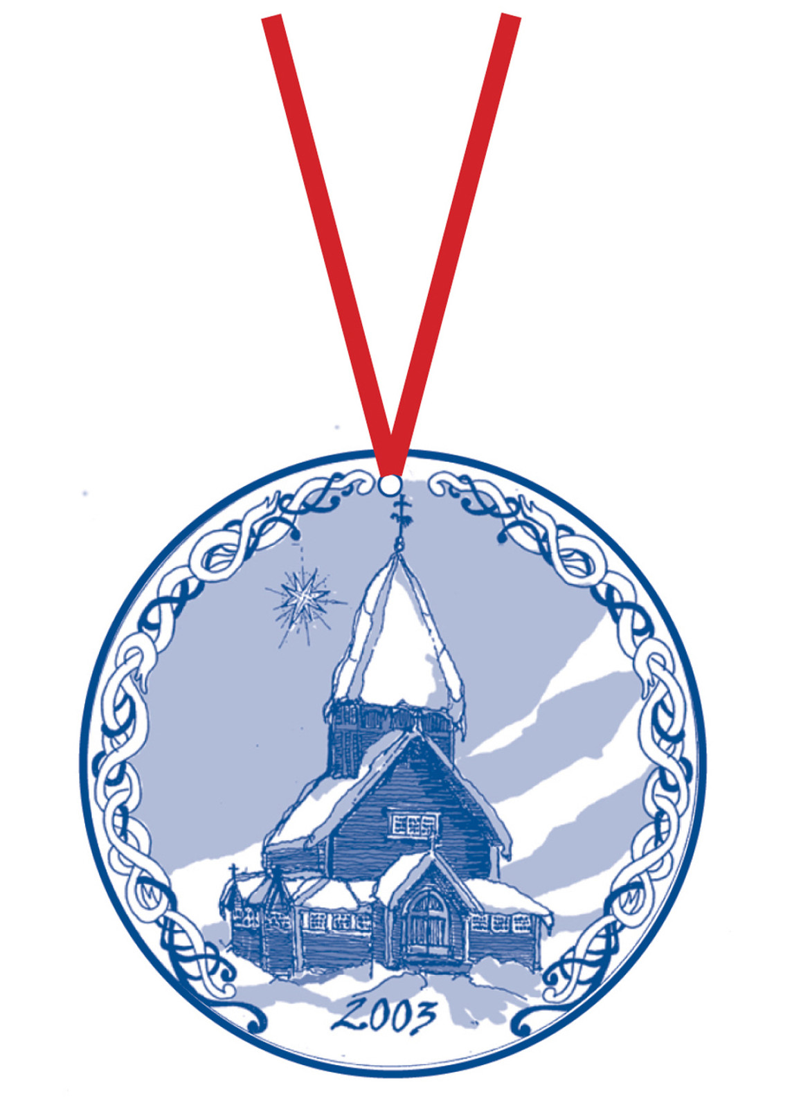 2003 Stav Church Ornament - Roldal. Made by Norse Traditions and available at The Nordic Shop.