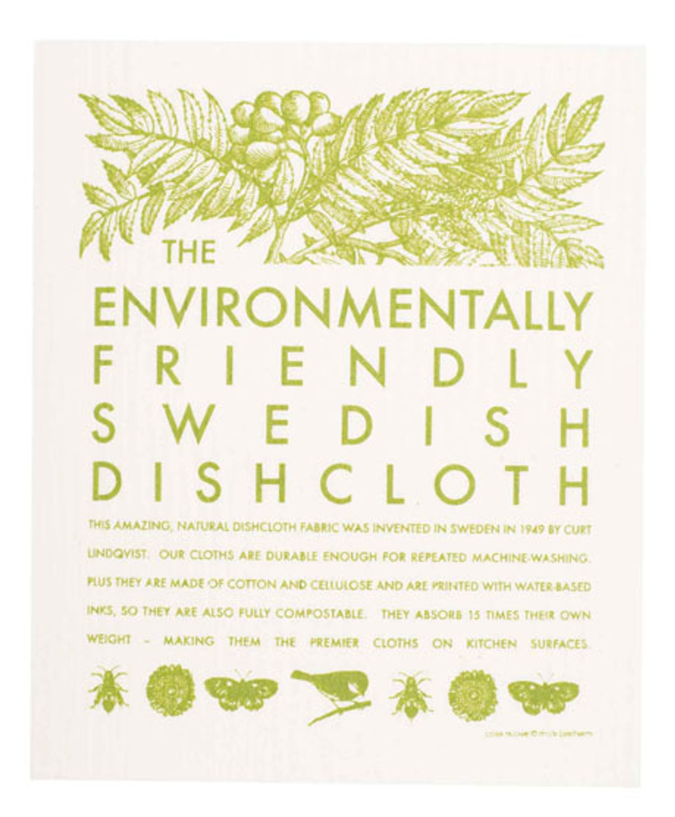Swedish dish cloth, Environmental design