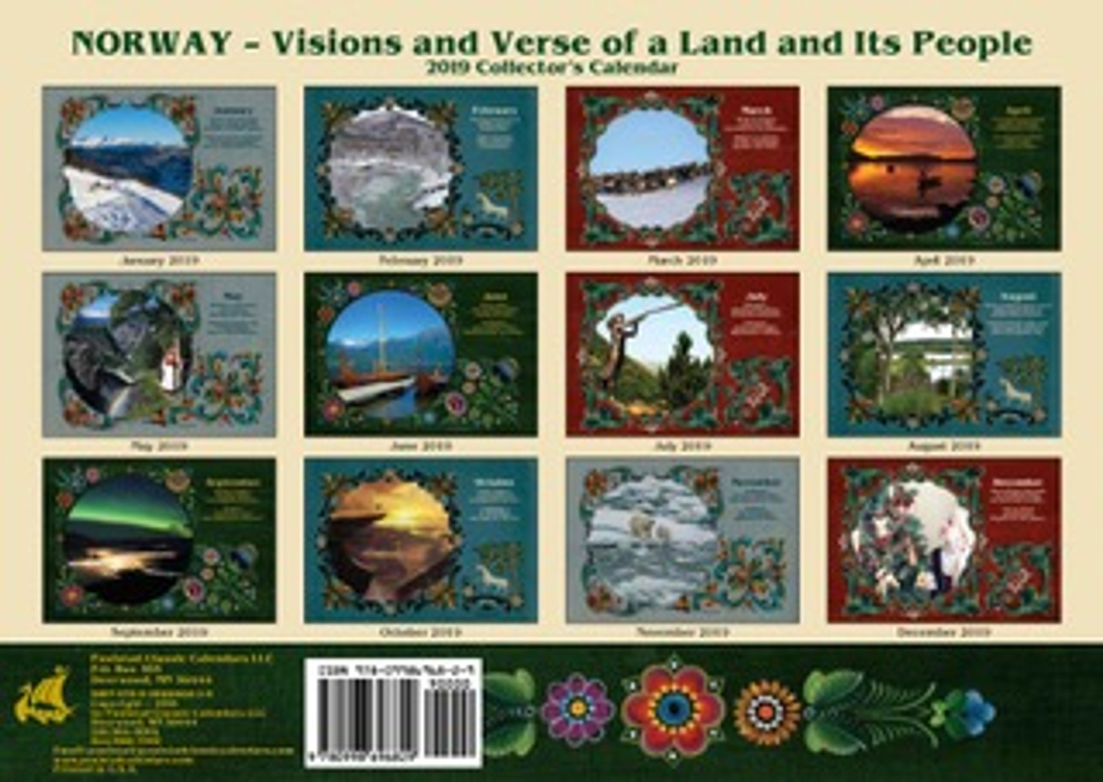 Back of the Paulstad 2019 Norway Visions and Verse Calendar
