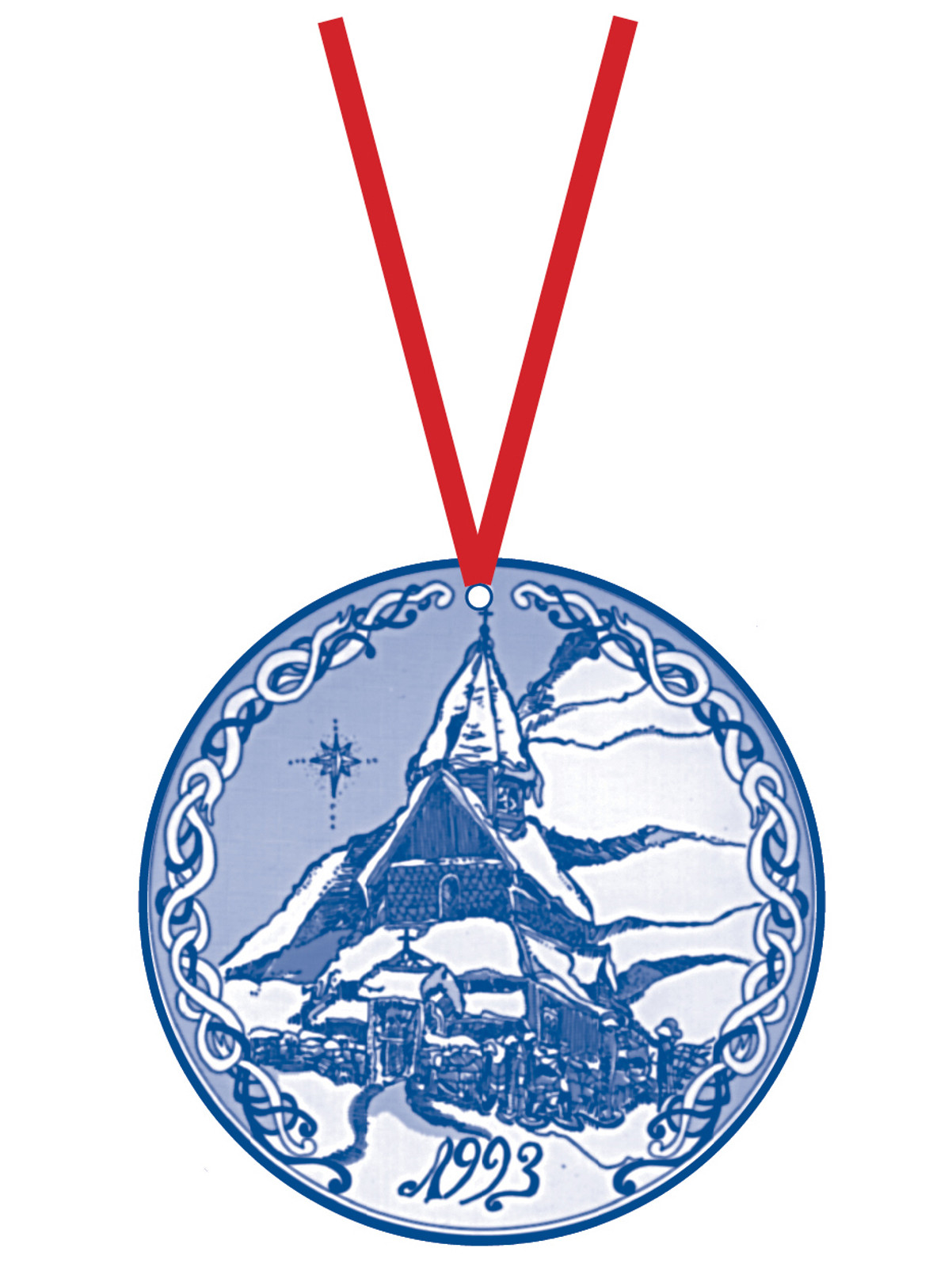 1993 Stav Church Ornament - Urness. Made by Norse Traditions and available at The Nordic Shop.