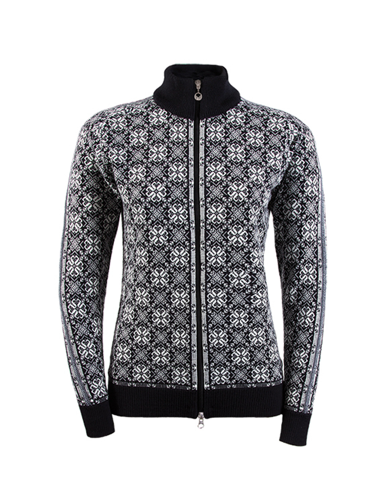 Dale of Norway Frida cardigan, ladies, in Black/Off White/Schiefer/Grey Mel, 82931-F, on sale at The Nordic Shop.