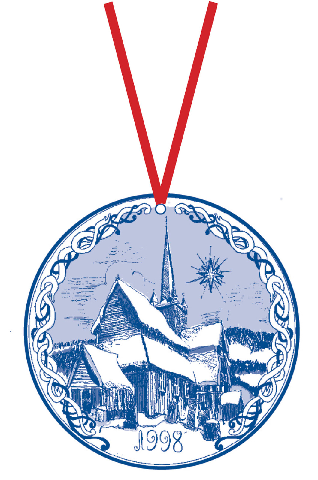1998 Stav Church Ornament - Ringebu. Made by Norse Traditions and available at The Nordic Shop.