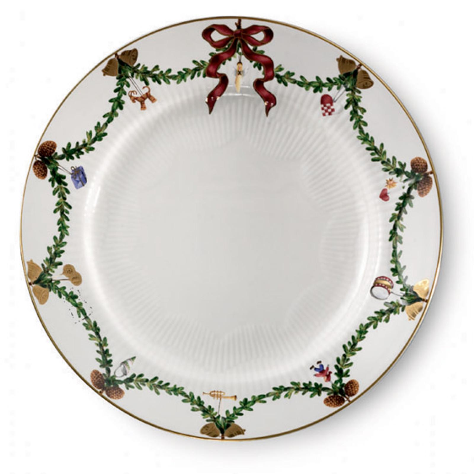 "Royal Copenhagen Star Fluted Christmas 7.5"" Dessert/Salad Plate"