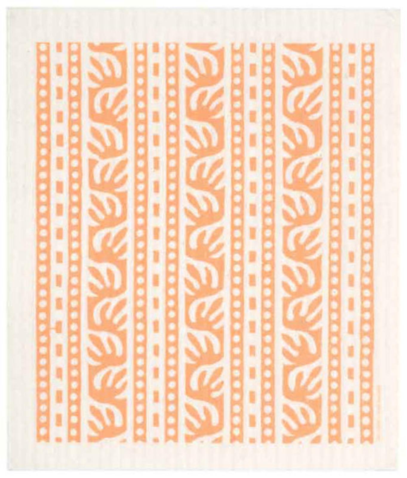 Swedish dish cloth, Yellow Batikk design