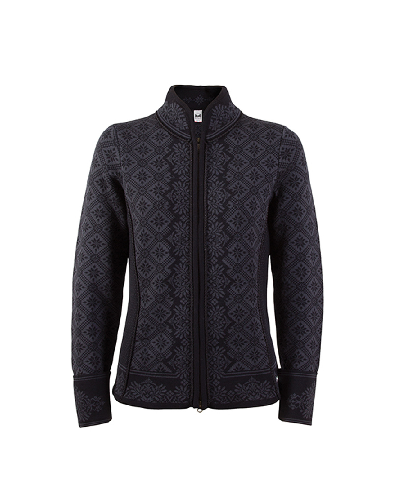 Dale of Norway, Christiania cardigan, ladies, in Black/Dark Grey, 81951-K, on sale at The Nordic Shop