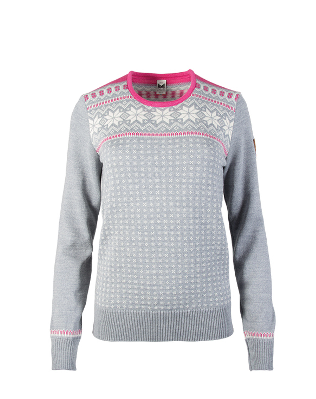 Dale of Norway, Garmisch Sweater, Ladies, in Grey Mel/Off White/Allium, 92601-I